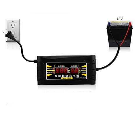 Souer 12v 6a Portable Smart Fast Car Battery Charger Dc 1206w 12v 6a smart fast lead acid battery charger fit car motorcycle lcd display us eu ebay