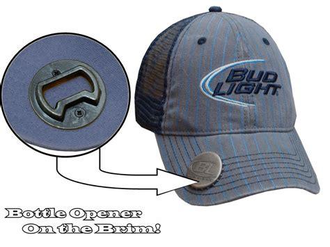 bud light trucker hat bottle opener hats bud light quot pinstripe quot bottle opener
