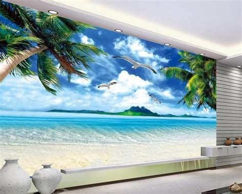 wall paper ocean beach murals scenery mural wallpaper