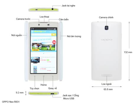 Tablet Oppo Neo R831 oppo neo r831 smartphone android dienmayxanh