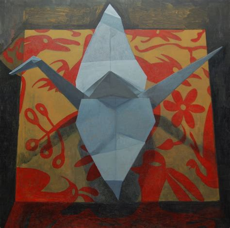 Origami Paintings - origami crane paintings