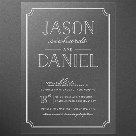 Basic Wedding Invitations by Clear Wedding Invitations And Gold Foil The Newest