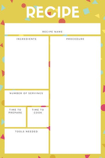 canva card template recipe card templates canva