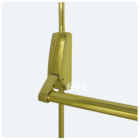 Panic Door Hardware by Briton 377e Panic Bolt Set In Polished Brass Pb