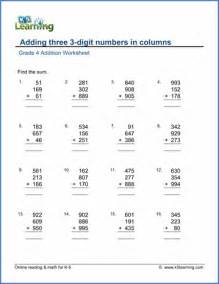 grade 4 addition worksheets free amp printable k5 learning
