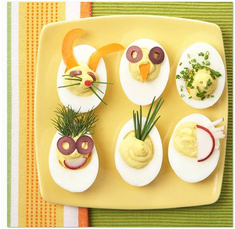 Decorated Deviled Eggs For Easter by Owl Barn Easter Recipe Deviled Eggs
