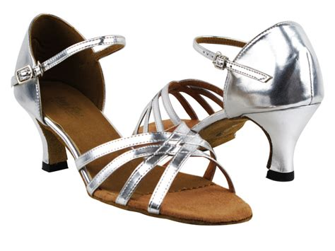 silver shoes without heel 6027 55 silver leather without mesh