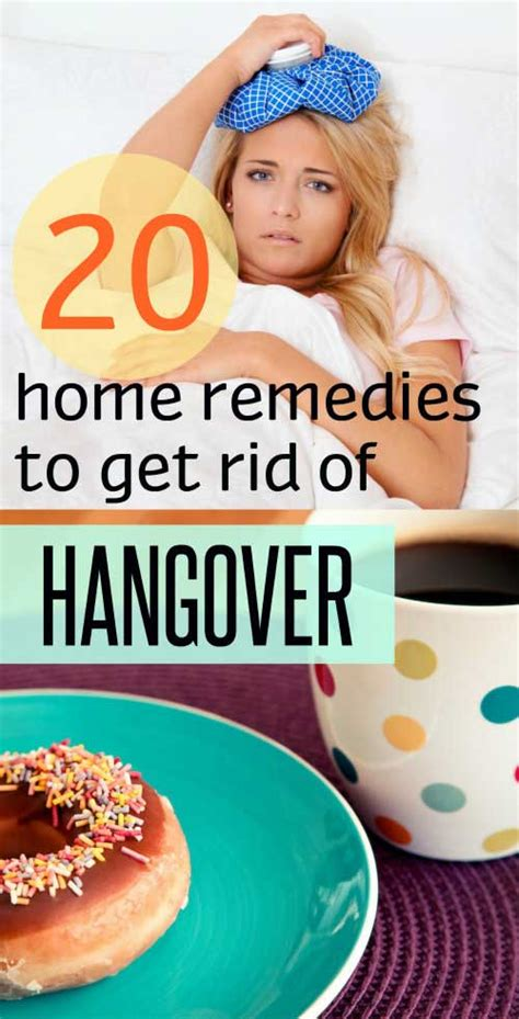 20 home remedies to get rid of a hangover