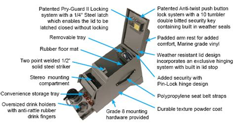 tuffy lock box center console for scout terra traveler