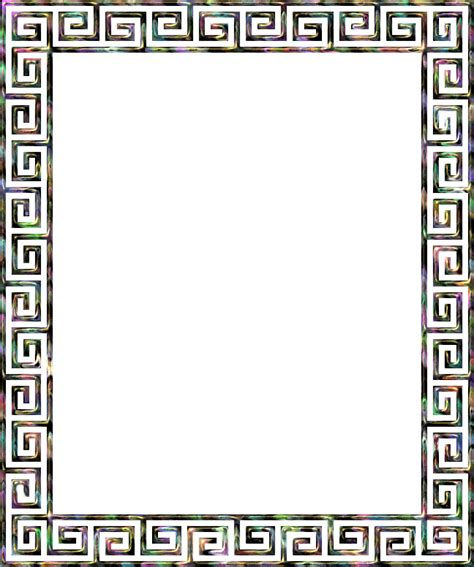 greek pattern frame clipart greek key frame 4