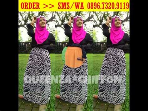 Supplier Baju Tartan Skirt Hq 089673209119 three chiffon skirt peluang bisnis