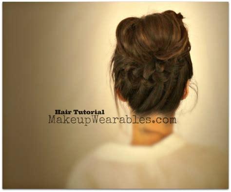 back to school hairstyles messy bun hair tutorial braided messy bun ponytail back to