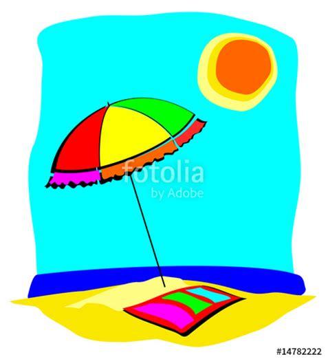 mare clipart quot spiaggia con ombrellone quot immagini e vettoriali royalty