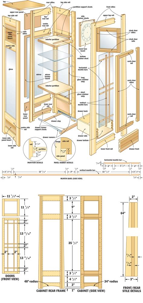 curio cabinet plans shelves plans to build pdf