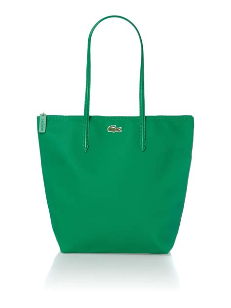 lacoste green tote bag in green lyst