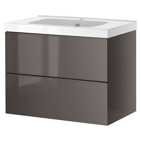 high gloss grey bathroom cabinets godmorgon odensvik sink cabinet with 2 drawers gray