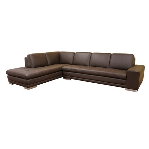 reverse sectional sofa wholesale interiors callidora reverse leather sofa