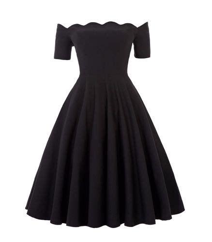 swing skirt dress liana luxury black off the shoulder full skirt vintage