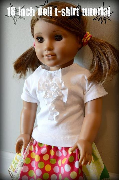 shirt pattern for american girl doll free american girl t shirt pattern and tutorial for 18