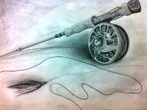 fishing pole tattoos animals for gt fly fishing pencil drawings fly fishing