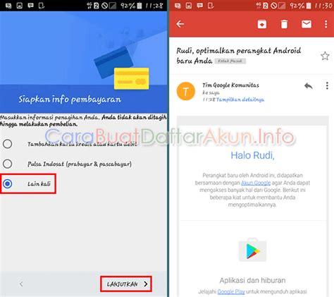 cara membuat email baru play store buat akun resmi google play contoh buat akun google play