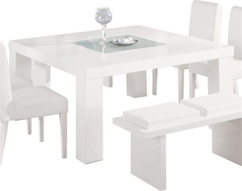 Dining Tables White Global Furniture Usa Lony Square Dining Table In White Modern Dining Tables By Beyond Stores