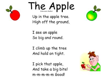 poems for toddlers smart exchange usa apple poems