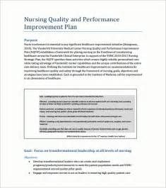 template for quality improvement plan performance improvement plan performance improvement plan
