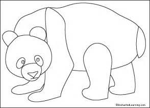 panda print outs panda printout simple enchantedlearning