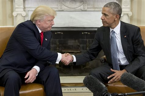 obama s oval office vs trumps trump meets with obama at white house in symbolic start to