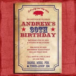 bbq birthday invitation or surprise birthday 4x6 by