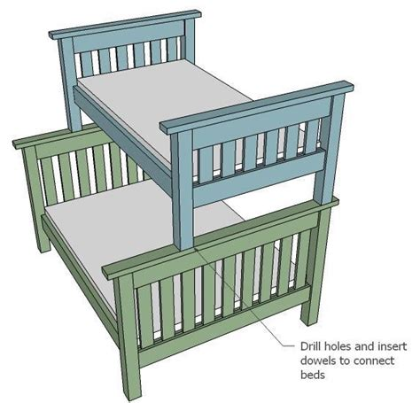 plans  twin  full bunk bed