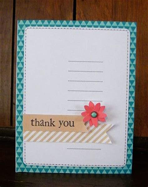Exles Of Handmade Cards - show your thanks thank you notes and cards write