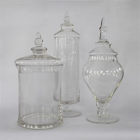 glass apothecary jars colormate 3 glass apothecary jars shop your way shopping earn points on tools