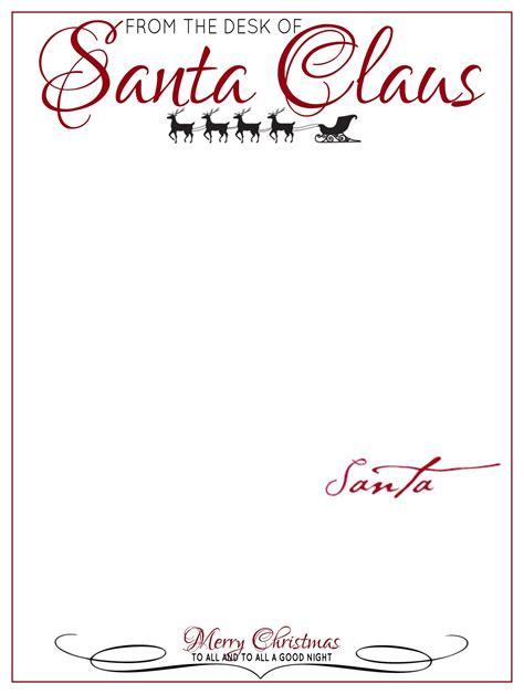 desk letter head santa claus letter template