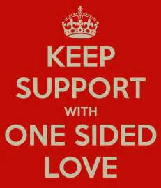 one sided keep support with one sided love poster awtian keep