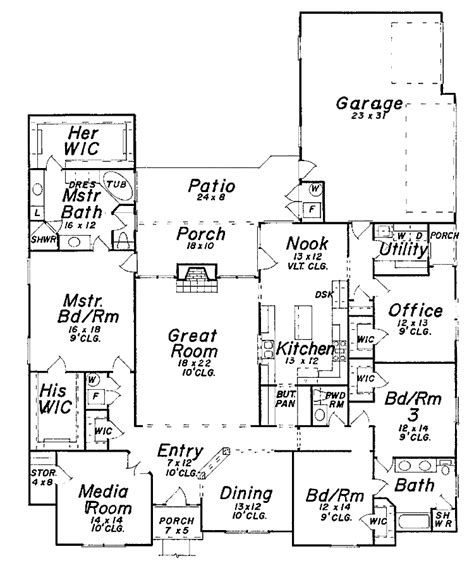 Floor Plan 3000 Sq Ft House by 3000 Sq Ft House 3000 Sq Ft Ranch House Plans House
