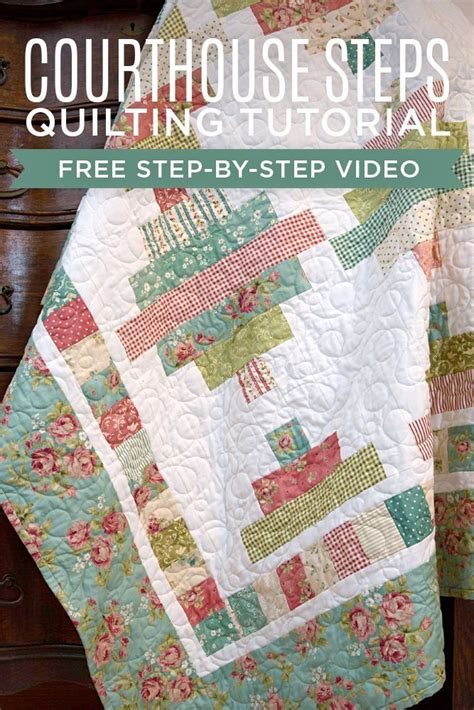 youtube tutorial quilting make a jelly roll courthouse steps quilt with jenny doan
