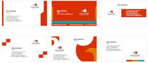 desain kartu nama microsoft word 100 contoh desain kartu nama keren siap pakai tutorial89