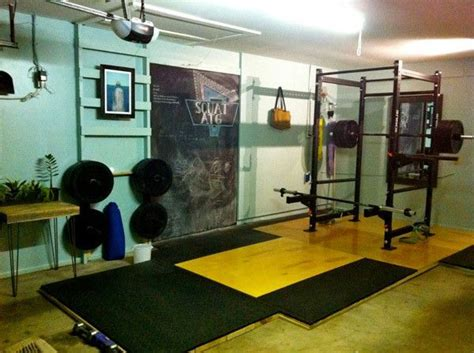 beautiful olympic lifting platform well constructed diy garage crossfit