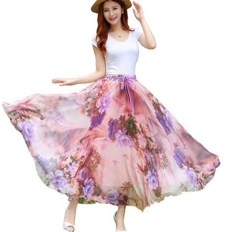 aliexpress buy 2017 new fashion summer chiffon skirts plus size sweet