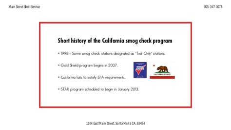 short history   california smog check program