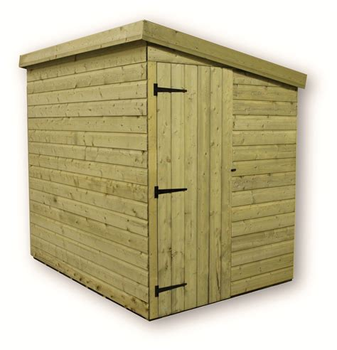 Shed With Side Door Shedswarehouse Aston 7ft X 6ft Windowless Pressure