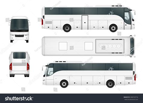 vector bus template isolated on white stock vector