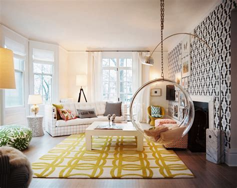 47 yellow black living room swing interior design