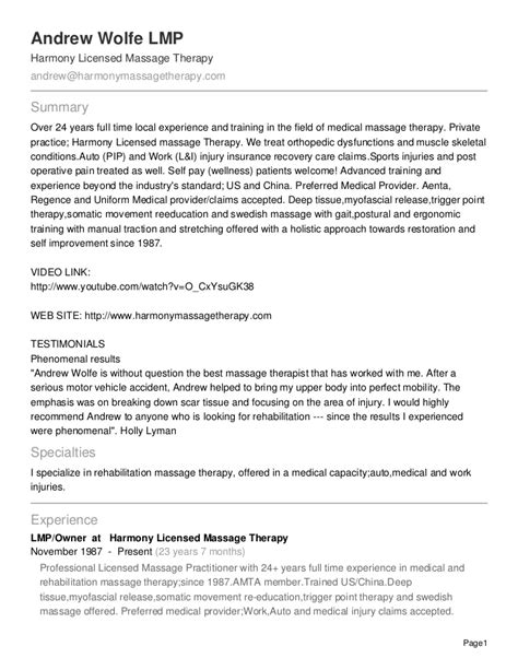therapy resume massage respiratory therapist stonevoices co