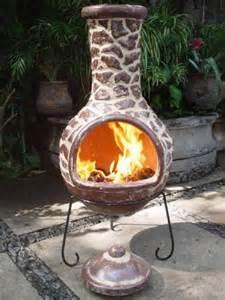 Outdoor Chiminea Clay Mexican Clay Chimenea Cantera Chiminea Patio Heater