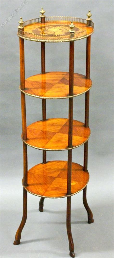 etagere oval a tier oval 19th century marquetry etagere antiques atlas