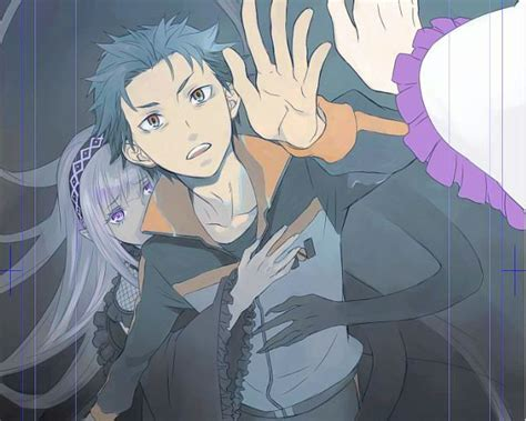 subaru and emilia satella subaru emilia satella re zero pinterest