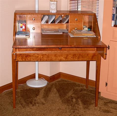 stephan woodworking slant top cherry desk